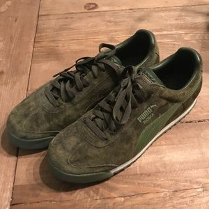 Puma Roma Forest Green Suede US9 Shoes